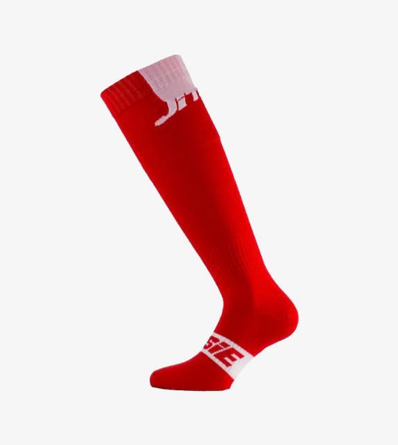 JITSIE Calze Solid Rosso-Bianco